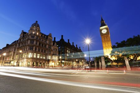 bigben: Night View of Westminster Parliament Square, Include Big Ben Clock Tower