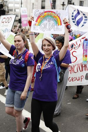 gay parade: London - June 27, 2015: People take part in Londons Gay Pride, 2015 Worldpride, estimated 25,000 people took part in the march, Parade to support gay rights.