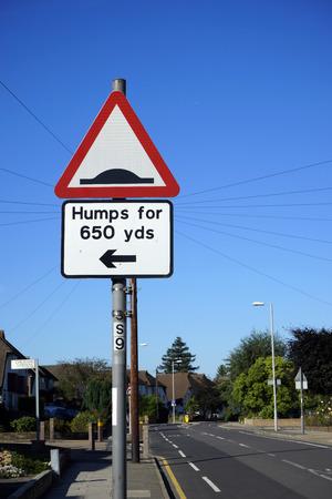 policing: UK, Road Traffic Sign, humps ahead