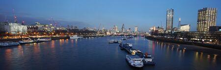 London skyline, include Blackfriars Bridge, St Pauls Cathedral, seen from Waterloo Bridge Stock Photo