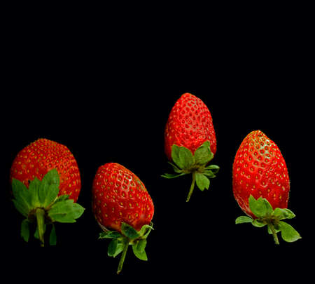 Rotten strawberries in flight