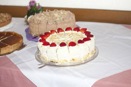 Strawberry cake Archivio Fotografico - 133335070