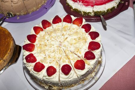 Strawberry cake Archivio Fotografico - 133335071
