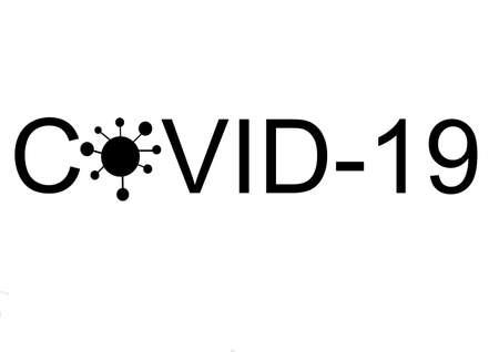 Corona virus letters with symbol illustration graphic covid 19 Illustration