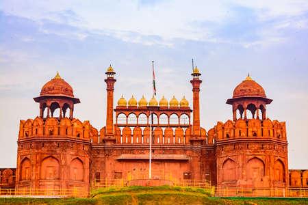 Red Fort is a historic fort at Delhi. Banque d'images