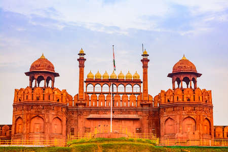 Red Fort is a historic fort at Delhi. Imagens