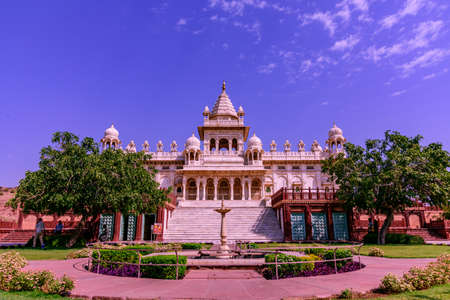 Jaswant Thada is cenotaph built by King Sardar Singh of Jodhpur State in 1899. Mausoleum built of carved sheets of marble & was used for cremation of the royal family of Marwar, Rajasthan,India.