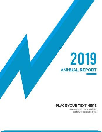 Cover design for annual report business catalog company profile brochure