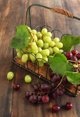Grapes in the basket photo