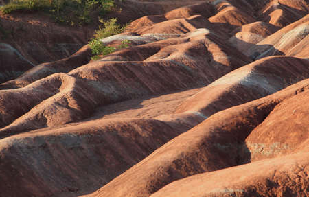 badlands: Close-up of rolling hills of Cheltenham Badlands  Stock Photo