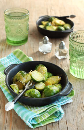 Brussels sprouts with sweet onions