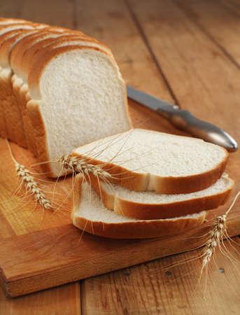 Sliced white bread  Archivio Fotografico