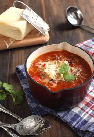 tast: Mexican chili con carne Stock Photo