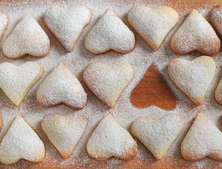 Heart shaped cookies for Valentine s day