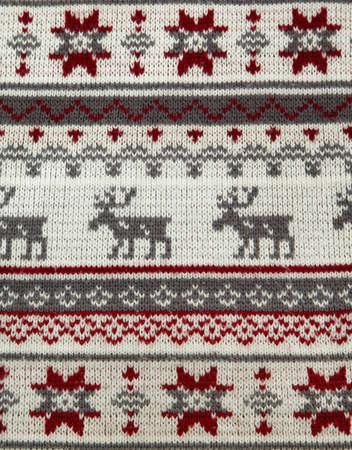 Gestrickte Hintergrund mit Weihnachtsschmuck Standard-Bild - 17626736