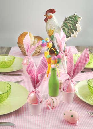 Easter table setting Reklamní fotografie