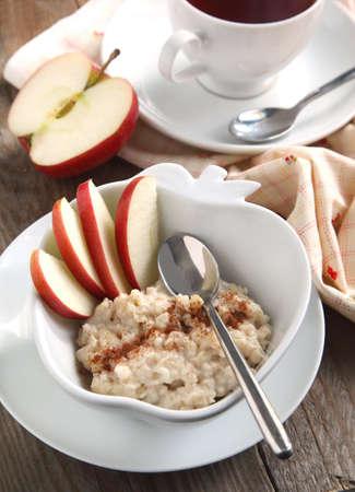 oatmeal: Apple-cinnamon oatmeal Stock Photo