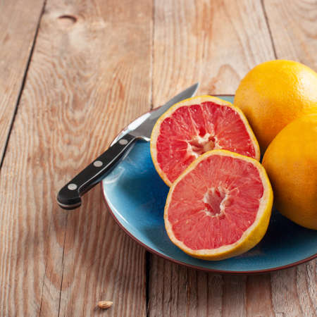 ripe: Ripe grapefruits Stock Photo