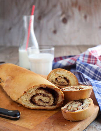 Chocolate swirl scone roll