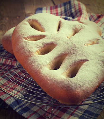 Traditional french sweet bread - Fougasse Stock Photo