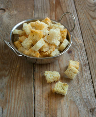 croutons: Baked croutons Stock Photo