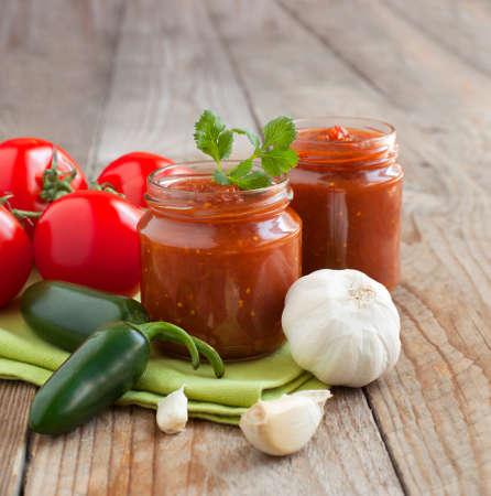 sauce tomate: Frais Trempette salsa maison