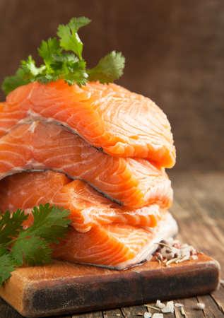 Raw Salmon Fillet 版權商用圖片