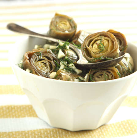 Marinated Artichokes in bowl