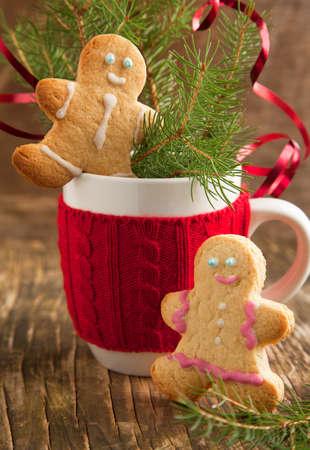 gingerbread: Gingerbread couple  Selective focus Stock Photo