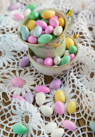 Jordan Almond Candies in cup photo