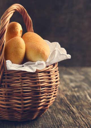 Rice and egg pies in basket 版權商用圖片
