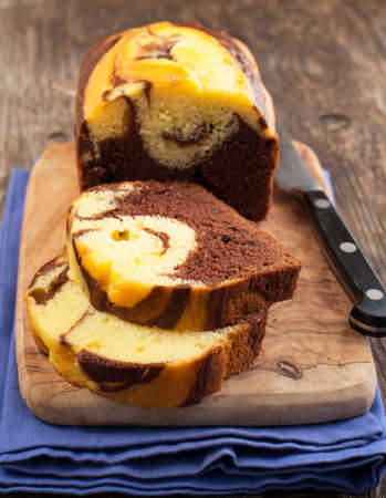 Marble Loaf Cake Stock fotó