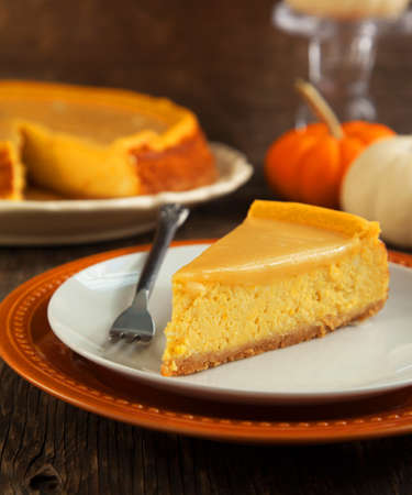 pumpkin pie: Pumpkin  cheesecake Stock Photo