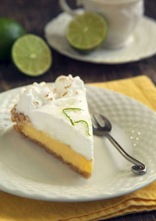 lime slice: Key lime pie Stock Photo