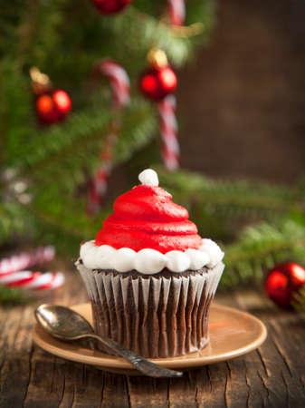 Weihnachten cupcake Standard-Bild - 24362813