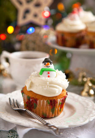 Christmas cupcakes Stock Photo - 24362836