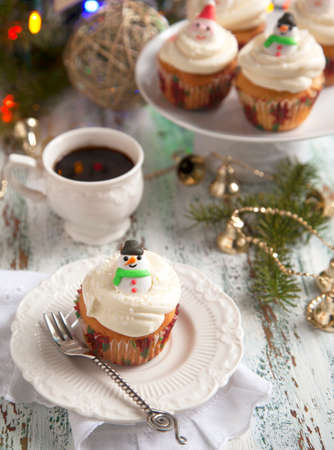 Christmas cupcakes Stock Photo - 24363034