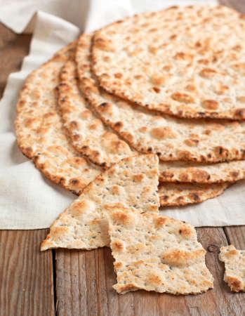 Sesame seeded flatbread