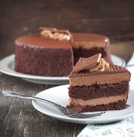 Chocoladecake Stockfoto