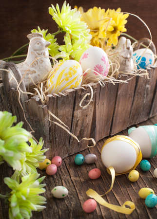 Decoration easter eggs photo