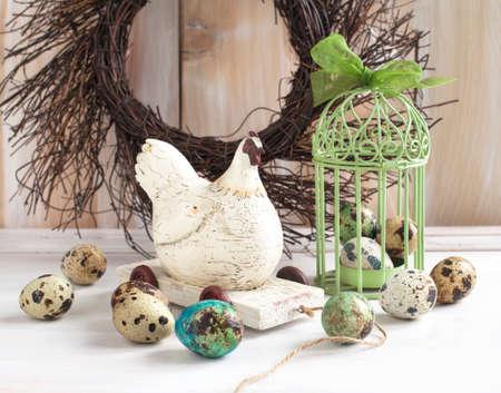 Still life with quail eggs  photo
