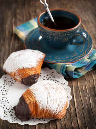 shaped: Sfogliatelle, Shell shaped Pastry , Traditional italian pastry