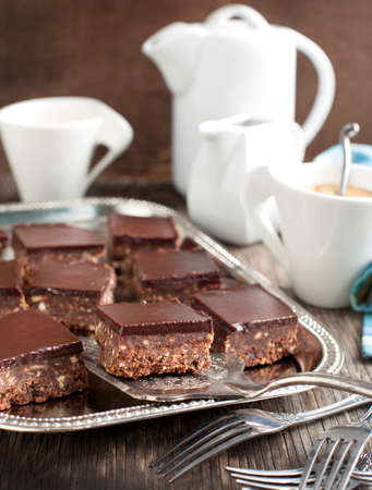 No-bake chocolate squares photo