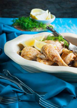 ovenbaked: Oven-baked lemon chicken