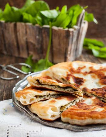 wood sorrel: Homemade Flatbread with sorrel