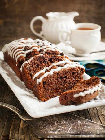 triple: Triple chocolate loaf cake