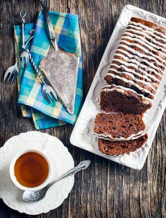 Triple chocolate loaf cake  photo