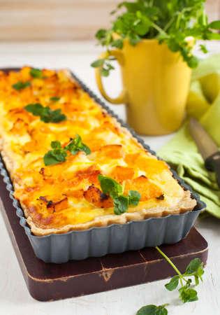Pumpkin tart with ricotta