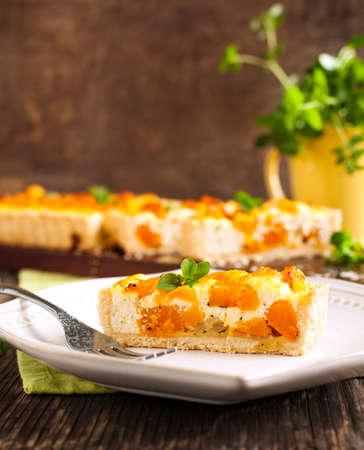 Pumpkin tart with ricotta photo