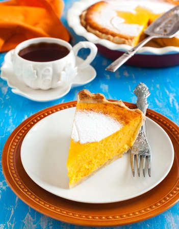 pumpkin pie: Piece of Pumpkin pie Stock Photo